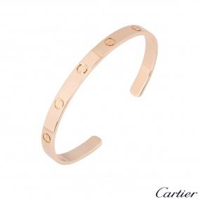 Cartier Rose Gold Plain Cuff Love Bracelet Size 20 B6032620